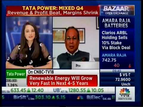 Dr Praveer Sinha,CEO & MD, Tata Power speaking to CNBC TV18 on financial performance in Q4 FY21