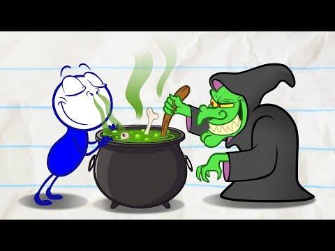Pencilmate Meets A Genie! - Pencilmation Cartoons