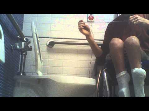 Wheelchair Style - Using Wheelchair Accessible Restroom With Catheter Extension - L1 injury 4-12-13