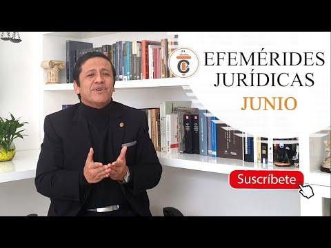 EFEMÉRIDES JURÍDICAS: JUNIO - Tribuna Constitucional 152 - Guido Aguila Grados