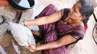 village aunty Fish Cutting & Fish Cutting || Myna Tasty Food