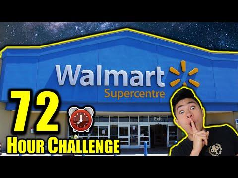 72 HOUR OVERNIGHT CHALLENGE IN WALMART
