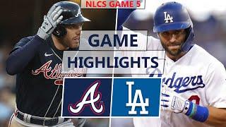 Atlanta Braves vs. Los Angeles Dodgers Highlights | NLCS Game 5 (2021)