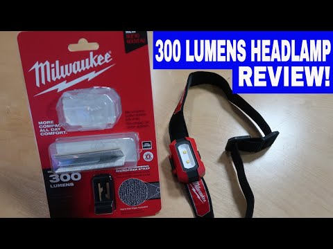 MILWAUKEE 300 LUMEN HEADLAMP 2106 -TOOL REVIEW TUESDAY!