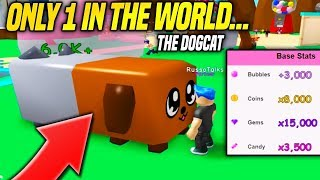 ONLY ONE PERSON IN THE WORLD HAS THE DOGCAT IN BUBBLE GUM SIMULATOR!! (Roblox)