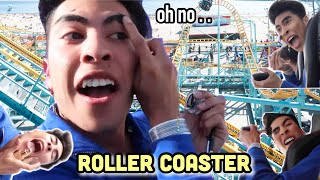 Doing my MAKEUP on a ROLLER COASTER!?! | Louie's Life
