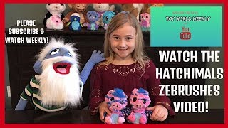 RARE HATCHIMAL VIDEO ZEBRUSH- TOY WORLD WEEKLY