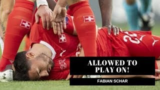 Fabian Schar allowed to carry on is a disgrace