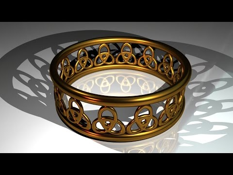 Maya tutorial : How to model a Celtic ring