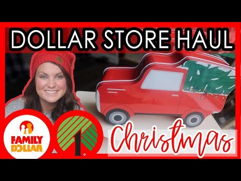 DOLLAR STORE CHRISTMAS HAUL | DOLLAR TREE & FAMILY DOLLAR