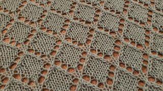 Part 2 - Diamond Lace Shawl Knitting Tutorial!