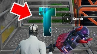 Search The Hidden letter T in Fortnite Chapter 2 Season 11