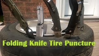 Folding Knife Tire Puncture