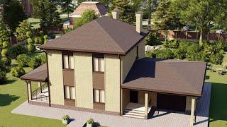 Проект дома 157-D, Площадь дома: 157 м2, Размер дома:  15,3x10,2 м