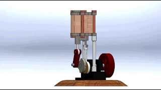 preview picture of video 'Motor a vapor en SolidWorks'