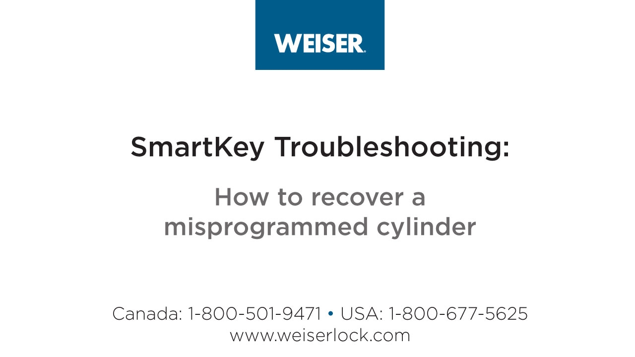 Weiser Lock - Frequently Asked Questions
