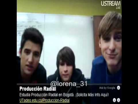 live chat  de big time rush  BTRUSTREAM 13/01/2011