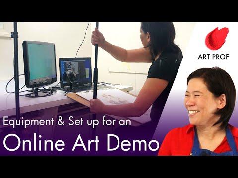 Teaching Art Online: Set up & Equipment to Live Stream an Art Demo
