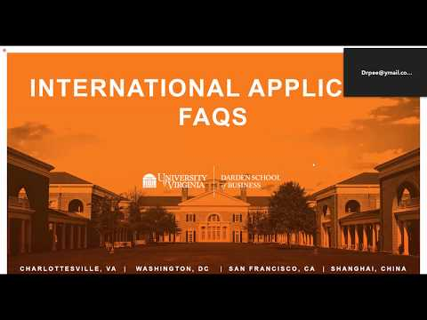 International Application FAQs: Early Session