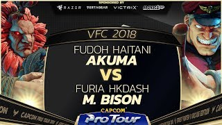 Fudoh Haitani (Akuma) vs Furia HKDash (M. Bison) - Versus Fighting Cup 2018 Top 8 - CPT 2018