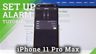 How to Set Up the Alarm on iPhone 11 Pro Max - Manage Clock