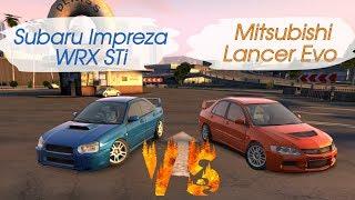 Какая из двух легенд лучше? Impreza WRX STi VS Lancer EVO lX (CarX Drift Racing)