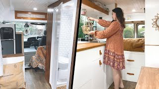 The ULTIMATE TINY HOUSE On Wheels 🚐 // Off-Grid VAN CONVERSION With AIR CON & MODERN BATHROOM � by Nate Murphy
