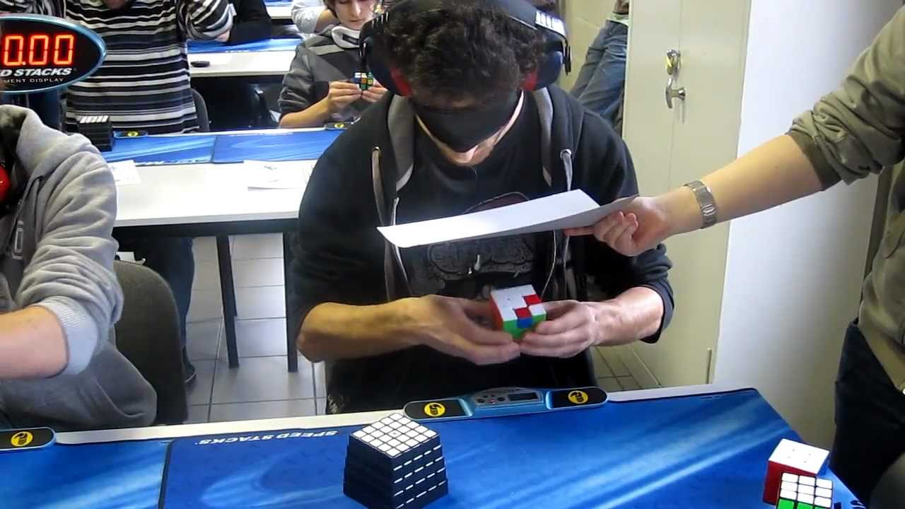 This Guy Needed Just 28.80 Seconds To Solve A Rubik's Cube. While Blindfolded.