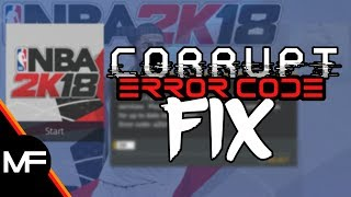 NBA 2K18 | ERROR CODE / SERVER CORRUPT MyPLAYER FIX | PS4