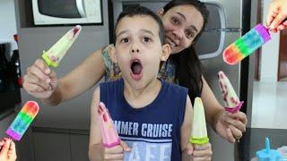 FAZENDO PICOLÉ DIVERTIDO - Criança na Cozinha com a Mamãe