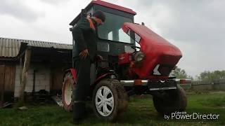 """Самодельный трактор """"Дерзик"""" на Вспашке огорода!"""