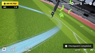 Getting 5 Props on the Soccer Field Easy Course | DJI FPV Drone Virtual Flight