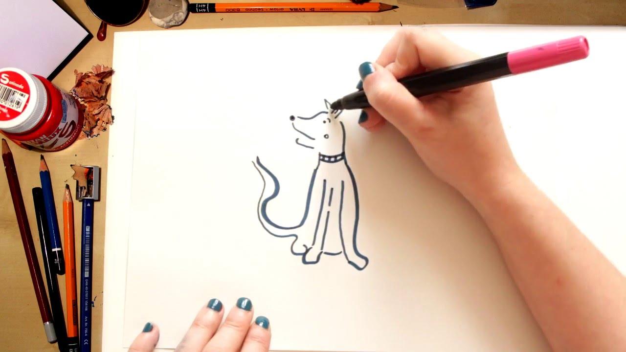 Como dibujar un Perro callejero - dibujos para niños