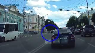 Женщину сбили на пешеходном переходе в центре Рязани