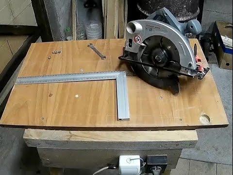 Саморобна циркулярка з ручної дискової пили.Homemade circular saw.