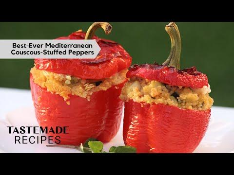 Mediterranean Diet Couscous-Stuffed Peppers | Tastemade Staff Picks