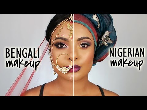Nigerian Makeup Vs. Bengali Bridal Makeup