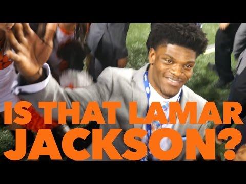 HEISMAN WINNER LAMAR JACKSON?!