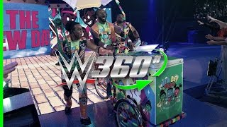 Make an entrance on the New Day Pops-Cycle in 360° with your WrestleMania 33 hosts, The New Day