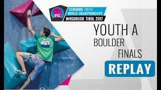 ifsc youth world championships innsbruck 2017  bouldering  male amp female youth a finals