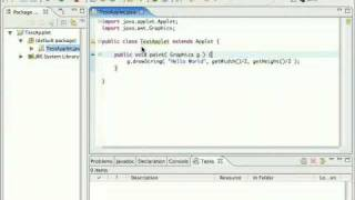 java applet tutorial #1