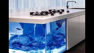The Ocean Kitchen: A Giant Aquarium Kitchen Island | Kholo.pk