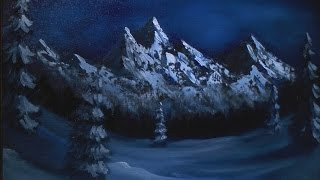 Dark Winter Mountain   Painting Lesson
