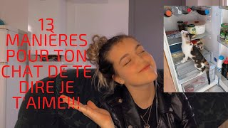 13 MANIÈRES POUR TON CHAT DE TE DIRE JE T'AIME!!!