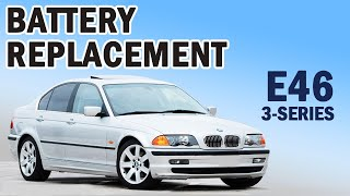BMW E46 3-series Battery Replacement for 323i and 325i