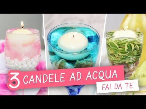 3 candele ad acqua FAI DA TE - 3 DIY water candles