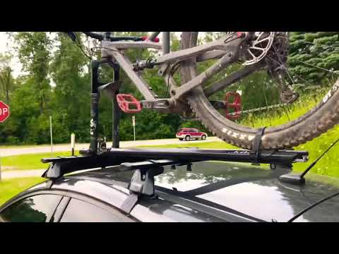 Kuat Trio - How to load thru axle mountain bike roof rack on a 2018 Ford Focus ST