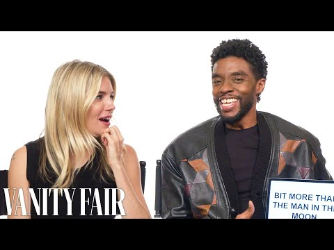 Chadwick Boseman and Sienna Miller Teach You South Carolina and British Slang | Vanity Fair