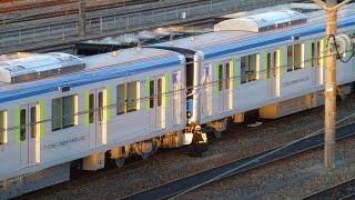 【新車 61613F+61614F分割シーン】 東武UPL(野田線) 60000系 61613F+61614F 甲種輸送 熊谷貨物ターミナル到着 61613F+61614F分割シーン