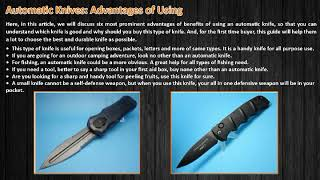 6 Benefits of Carrying Automatic Knives as a Defensive Weapon
